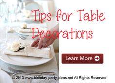 Table Party Decorati