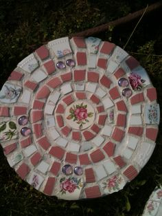 STEPPING STONE, Pink Rose Shabby Chic Stepping Stone for your Garden
