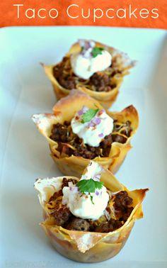 taco cupcake savory 2013 wedding menu trends