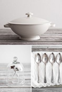 Beautiful vintage kitchen wares via The Style Files.