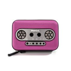Pink Imaingo X Portable Speaker. Love the retro styling that makes it look like a walkman.