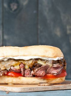 This Grilled Flank Steak Sandwich was a huge hit in our house! #WeekdaySupper