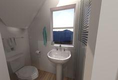 Small House Floor Plans - Bathroom Upstairs