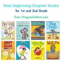 best beginning chapter books for 1st and 2nd grade from pragmaticmom.com