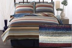 Retro Striped Washed Bedding Set