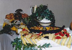 this is good info for setting up buffet table scape