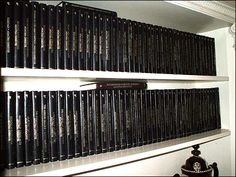 Agatha Christie's collection of her own works in the library at Greenway