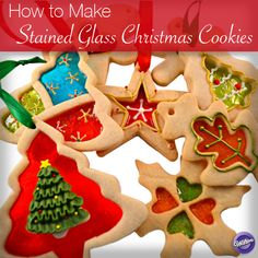 Follow our step-by-step tutorial to learn how to make stained glass Christmas cookies.