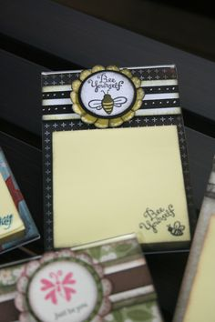 Post It Note holder using acrylic frame.