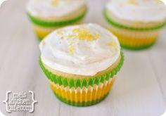 melskitchencafe.com: Perfect Lemon Cupcakes