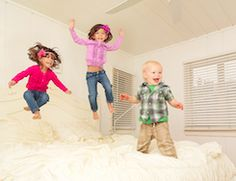 """Few things are as tempting for kids as the forbidden fruit of jumping on the bed. When the slightest bounce can send parents scrambling to the door to put a stop to the fun, the whole idea becomes more and more alluring. Instead of reaching for the old standby """"because I told you so,"""" here are ten things that can actually result from jumping on the bed."""