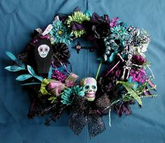 Dia de los muertos wreath.
