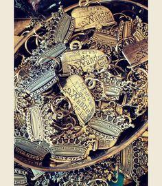 JUNK GYPSY CROWN KEYCHAIN - heavyweight pewter keychain. . custom Junk GYpSy design