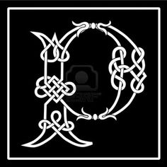 Celtic knot-work capital letter P