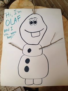 Disney's Frozen party - Pin the carrot nose on Olaf