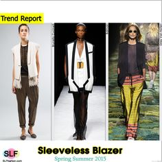 Sleeveless Blazer Trend for Spring Summer 2015. Brunello Cucinelli, Balmain, and Dries Van Noten #Spring2015 #SS15 #Jacket