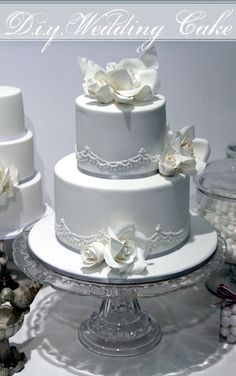 How to Make a Two Tier Wedding Cake (stenciling too)
