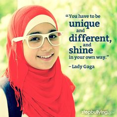 What makes you shine?  #bullying #Education #individuality #ladygaga #quote #gaga