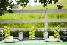 Green apple centerpieces, green apple wedding The Frosted Petticoat: Classic Color with a Twist!