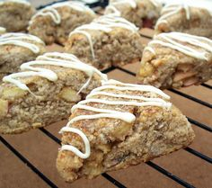 Apple, Ginger and Spice Scones W/Vanilla Glaze (Gluten, Grain & Dairy Free) from @theurbanposer
