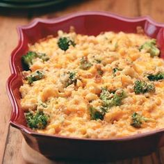 Broccoli Mac & Cheese Bake Recipe from Taste of Home