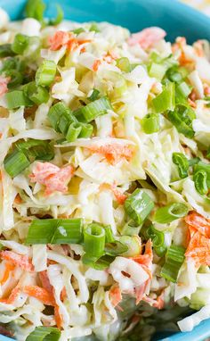 Buttermilk Coleslaw with plenty of crunch and the perfect balance of sweet and tangy. #recipe #colelsaw
