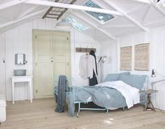 I'm sure you could fairly easily convert a store bought storage shed into a guest room such as this.