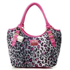 Coach Purse pink leopard Yes please
