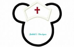 Instant Download Nurse Mouse Ears Embroidery by JakkisDesigns