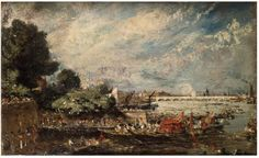 Waterloo Bridge from Whitehall Stairs, John Constable, 1819