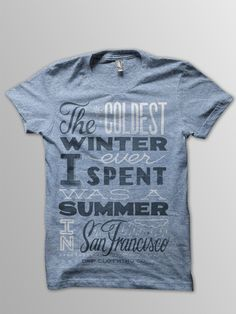 Summer in San Francisco Tee via boutiika.com $28