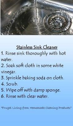 Easy way to clean stainless steel sink.  ***Sparkle***