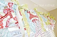 fabric strip, no-sew window valance