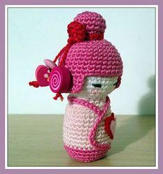 Ravelry: Pink Kokeshi amigurumi pattern by Ana Artedetei