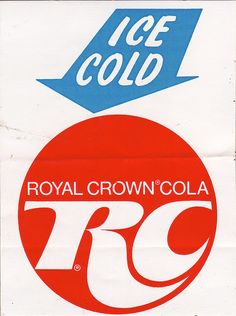 Was a favorite of my mom's for awhile......RC Royal Crown Cola Vintage Sticker - 1970's