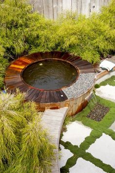 While this is quite a modern design, I like the sense of enclosure around this spa