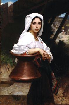 William-Adolphe Bouguereau (1825-1905) - Italian Girl Drawing Water (1871)