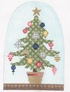 """Christmas Snowdome- Little Tree Christmas Snowdome- Little Tree Style: KH404 Size: 3.75"""" x 5.5""""t Mesh: 18"""