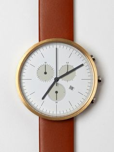Timeless piece from Unifom Wares http://www.uniformwares.com/ combinaton of leather and bronze is too much sexy