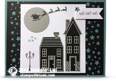 Sara Willis Happy Home Christmas Ho ho ho card using Stampin up Happy Home stamp set