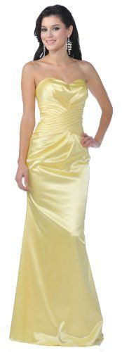Yellow Dress - Pin It :-) Follow Us :-))  azDresses.com  is your  Dresses Product Gallery.  CLICK IMAGE TWICE for Pricing and Info :) SEE A LARGER SELECTION of yellow dresses at http://azdresses.com/category/dress-categories/dresses-by-color/yellow-dress/ -   women, womens fashion, dress, womens dresses -   Meier Wome's Satin Strapless Pleated Gown (Medium, Yellow) « AZdresses.com