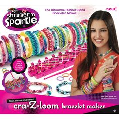 "Cra-Z-Loom Rainbow Colored Rubber Band Bracelet Maker - CRA-Z-ART - Toys ""R"" Us"