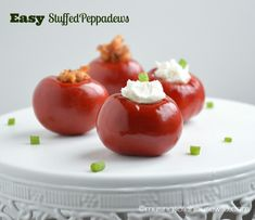 YOU MUST TRY these Stuffed Peppadews for your next party!!! Impress your guests!! #recipe #gameday #olympics #partyappetizer #foodie