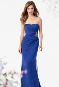 Loving this royal blue with hint of sparkle from Jordans Bridesmaids. A stunning bridesmaid dress.