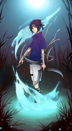 Sasuke_Water by *UdonNodu on deviantART