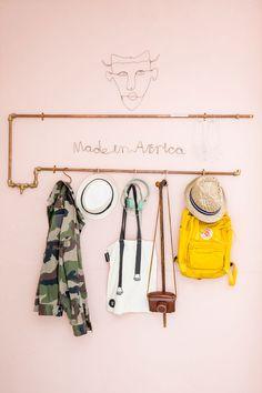pipe coat rack
