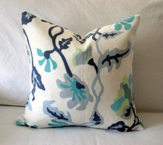 Quadrille China Seas Potalla Pillow Covers - Blue, White, Turquoise