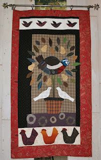 This is my version of a modern primitive quilt from a Jan Patek pattern.