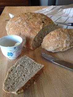 Whole grain bread with seeds