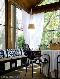 Screen Porch in Blue  White and a $100 Ace Gift Card Giveaway